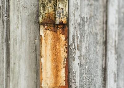 Abandoned rusty gutter
