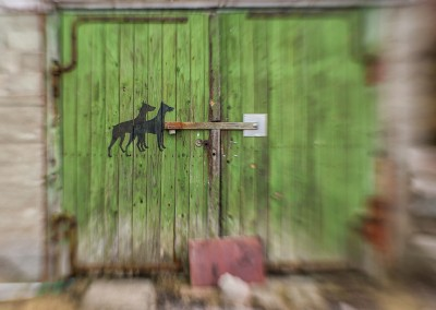 Abandoned barn door